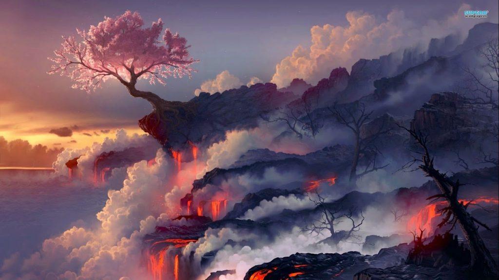 Volcano Erupts creating zeolites